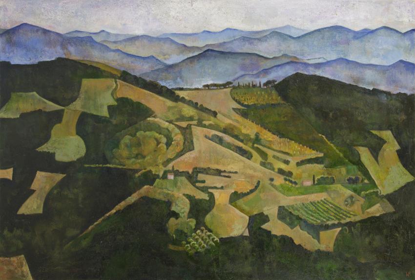 William Balthazar Rose - Geometric Hillside Umbria, 2012
