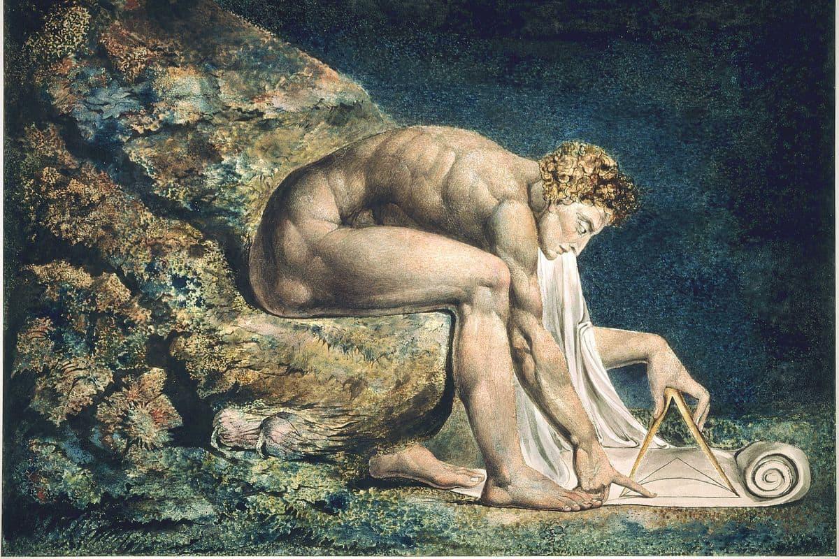William Blake - Newton (detail), 1795