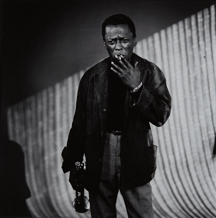 William Claxton-Miles Davis with Cigarette, Los Angeles-1956