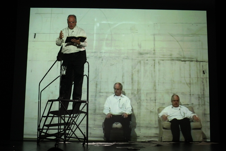 William Kentridge - I Am Not Me, the Horse Is Not Mine, a Performa Premiere, 2009. Photo by Paula Court, Courtesy of Performa