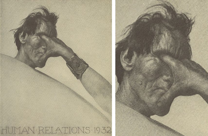 -Mortensen - Human-Relations, 1932 (left), Detail (right)