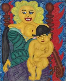 William Copley-La Vierge et l'Enfant (The Virgin and Child)-1959