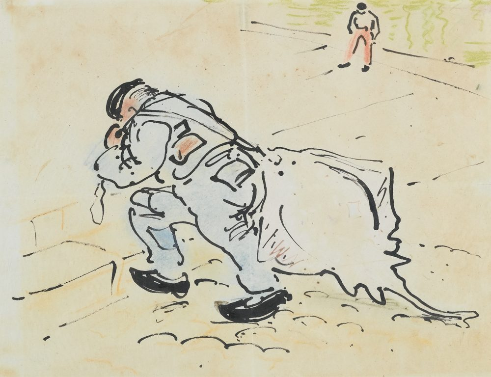 William Nicholson-Winston Churchill With A Skate-