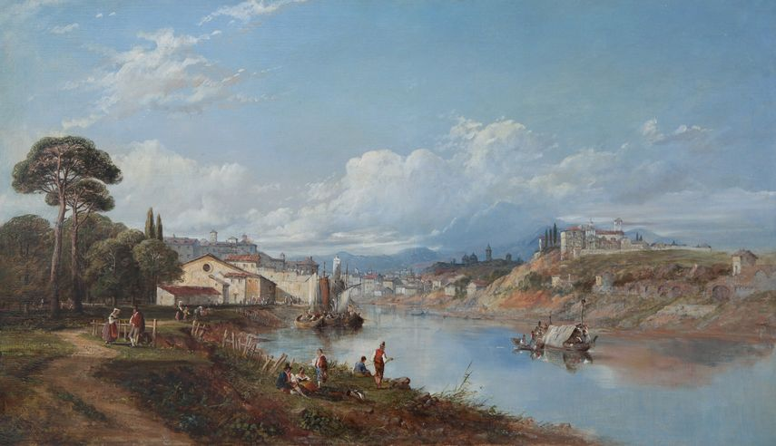 William Oliver - Beautiful River Landscape