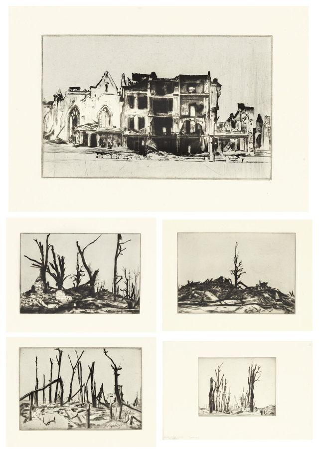 William Rothenstein-Landscapes of the War-1922