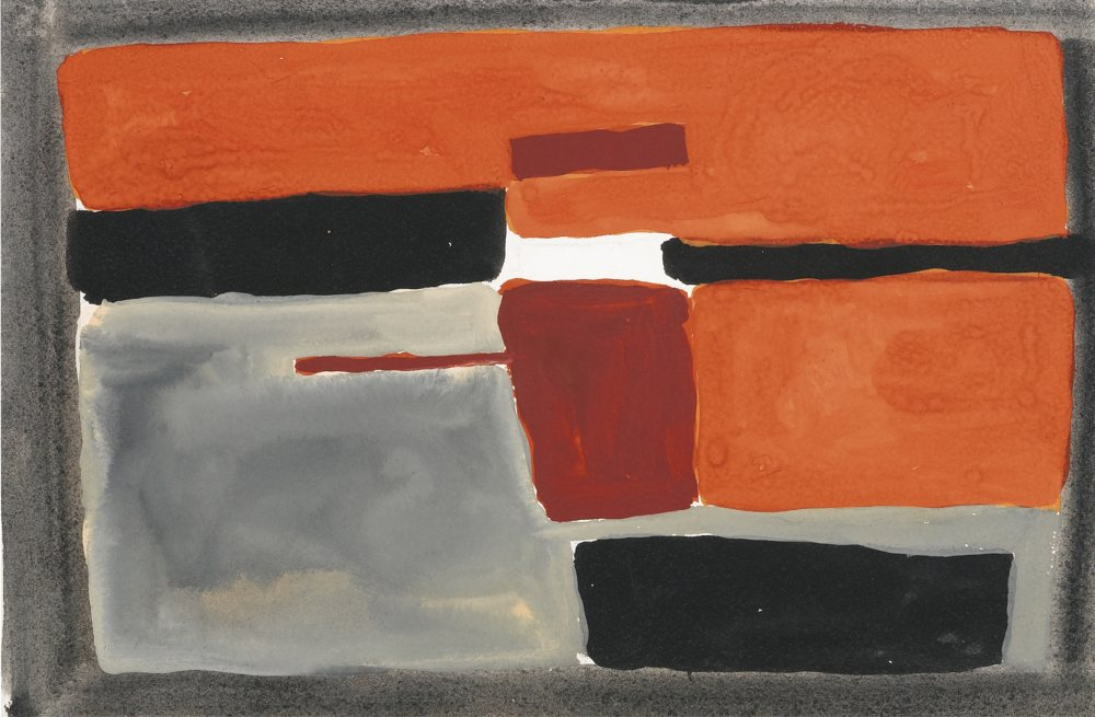 William Scott-Gouache No. 8-1952