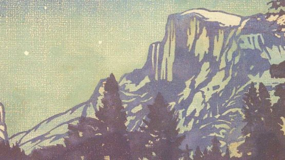 William Seltzer Rice - Night - Yosemite (detail), 1920