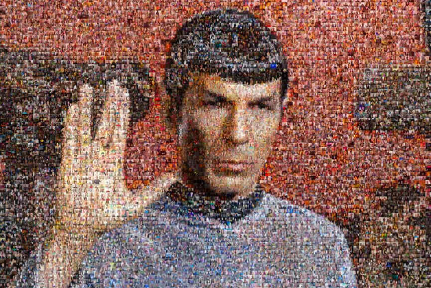 William Shatner - Leonard Nimoy - Mr. Spock Selfie Mosaic
