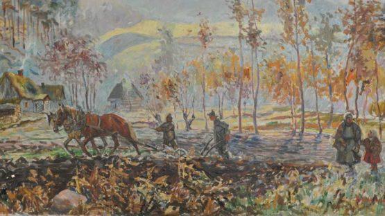 Wlodzimierz Zakrzewski - Pejzaz wiejski (detail)