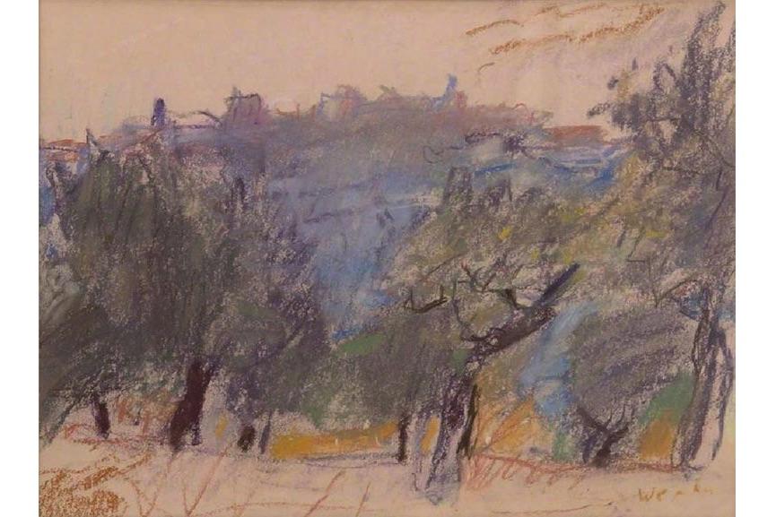 Wolf Kahn - Untitled, landscape, 1960