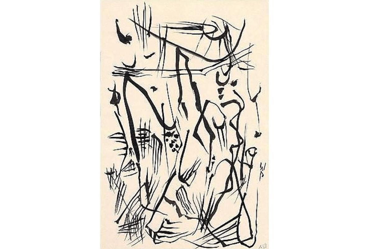Wolfgang Paalen - Automatic Drawing, 1950