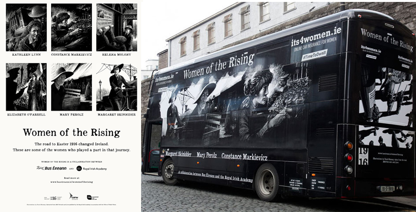 Women of the Rising 2016 Bus. Images via Bus Éireann