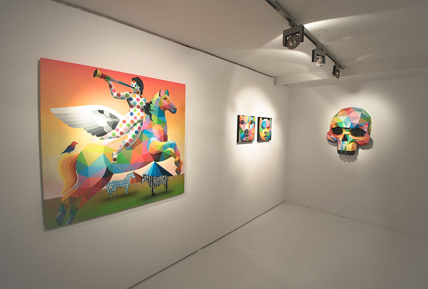 Works by Okuda at Delimbo Gallery