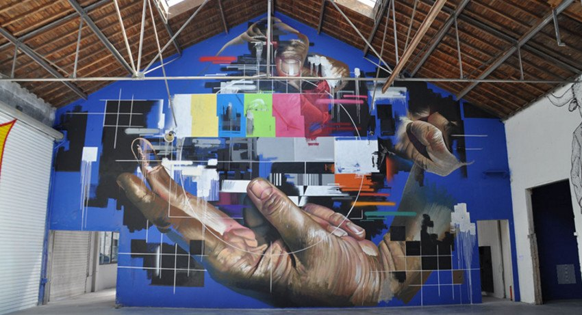 Chaos is a Circle of Squares - Toulouse - 2014 - mural - festival