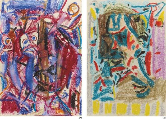 Wu Dayu-Untitled II-477; Untitled II-482-1950