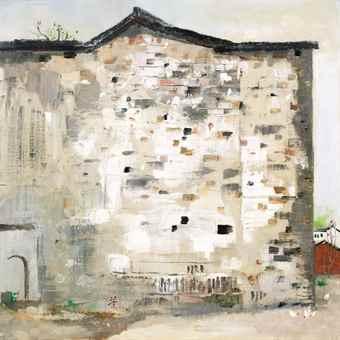Wu Guanzhong-Hometown of Lu Xun: Old House (Old Wall)-1981