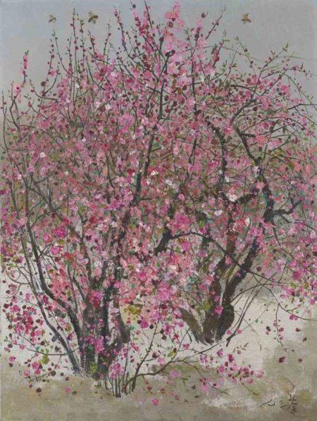 Wu Guanzhong-Peach Blossoms-1973