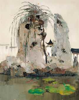 Wu Guanzhong-The Garden (The Garden in Jiang-nan)-1978