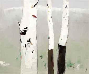 Wu Guanzhong-White Birch-1985