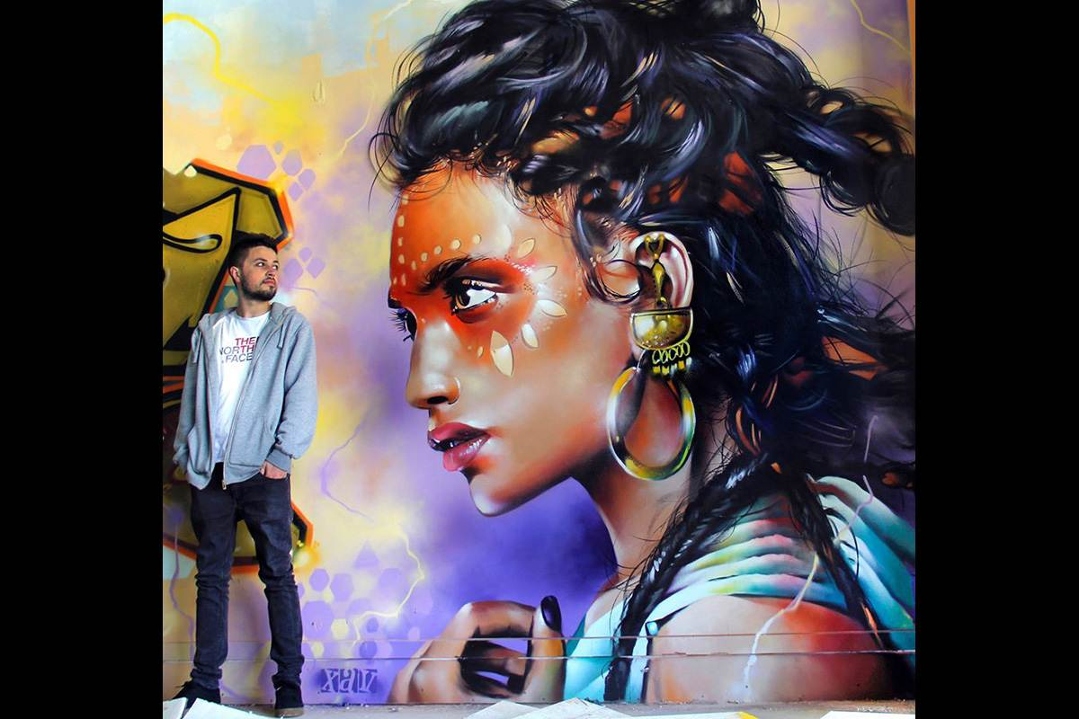 street art and murals Xav