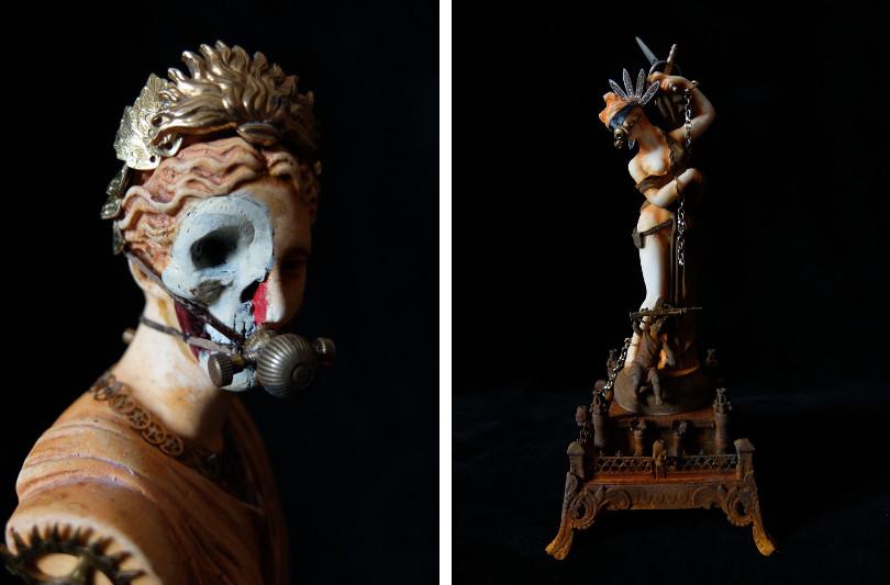 Xavier Somers, sculpture, steampunk, Galerie Geraldine Banier
