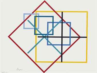 Yaacov Agam-Untitled (Squares)-1980
