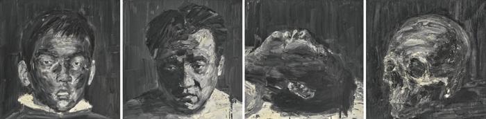 Yan Pei-Ming-Self Portrait At Four Ages-2006