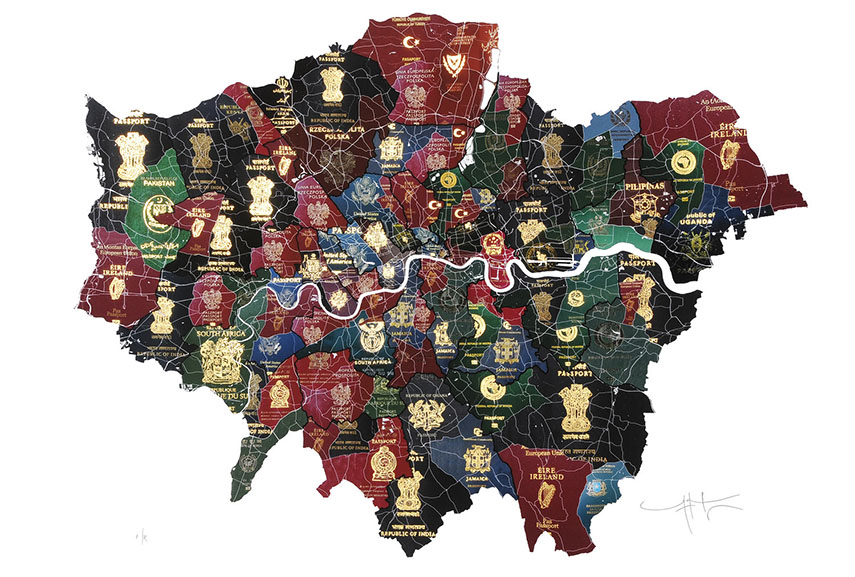 Yanko Tihov - London Passport Map