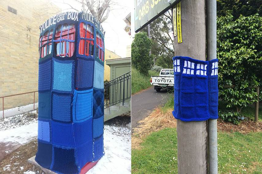 Yarn Bombs Doctor Who