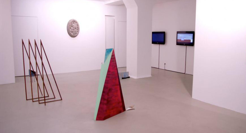 Yasmin Alt & Sebastian Biskup - Dialog On Sight, duo exhibition at Rockelmann &, 2014, installation view
