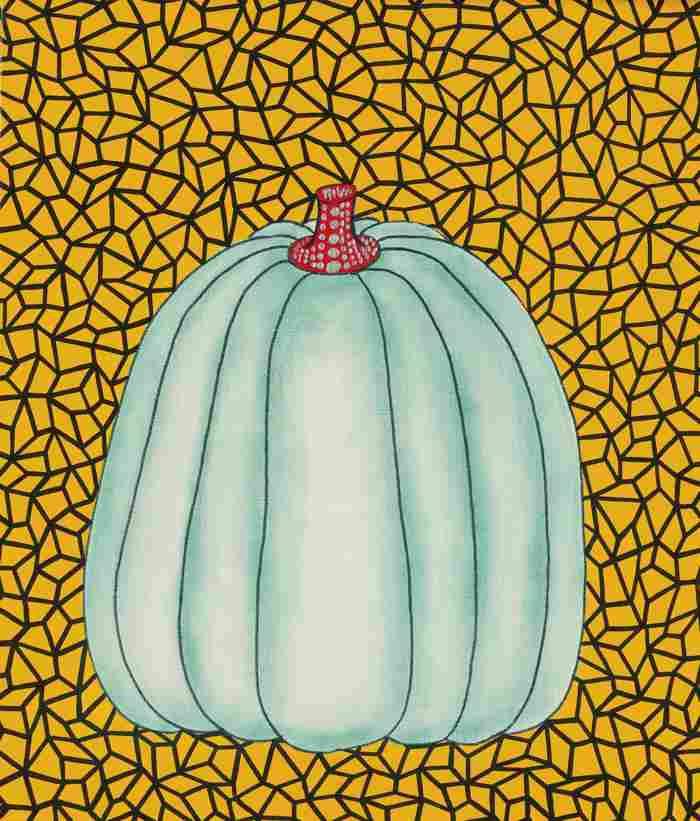 Yayoi Kusama-Blue Pumpkin-1989