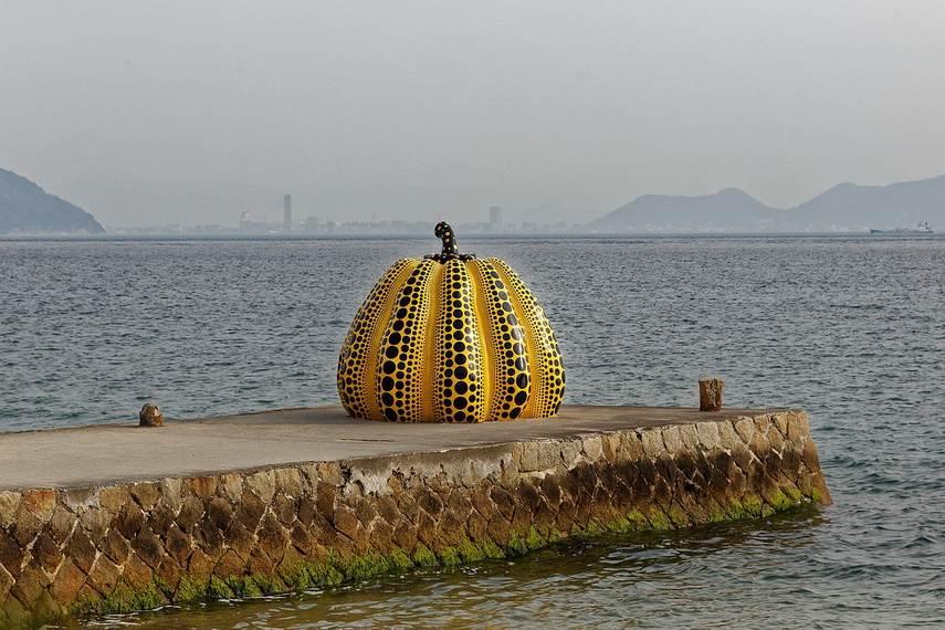 Yayoi Kusama - Pumpkin at Naoshima Island, Japan