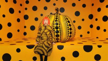 Kusama, a celebrated artist from Japan with Pumpkin, 2010, ahead of the exhibitions of this world famous Japanese artist