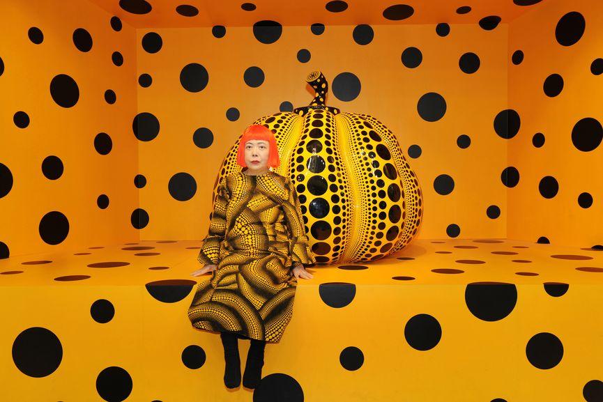 Kusama with Pumpkin, 2010