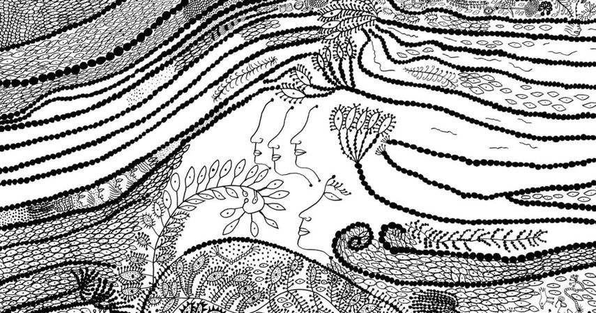 Yayoi Kusama's Illustration for The Little Mermaid; one of the artist designed books