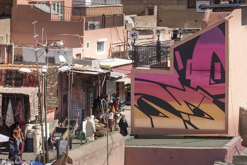 Yesbee mural in Medina, photo © Ian Cox 2016