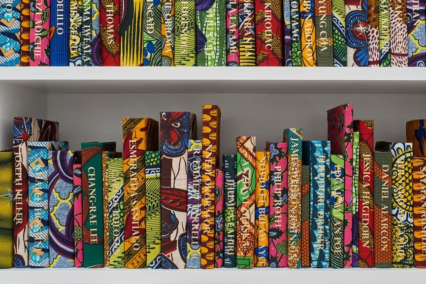 Yinka Shonibare - The American Library Collection (Detail), 2017