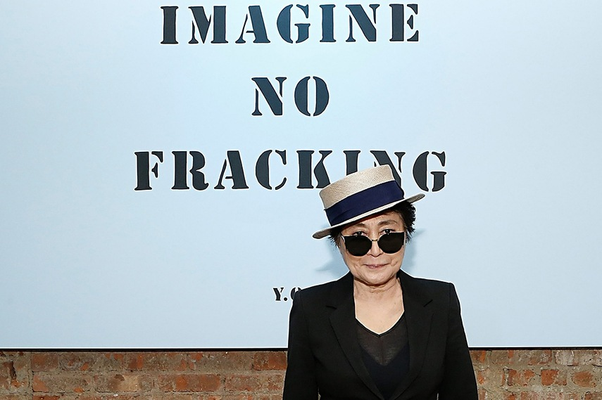 Yoko Ono and one of her latest campaigns against fracking