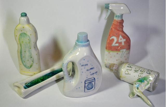 Yuet Ching Lung Joyce - Super Domestic Cleaning Bottles, 2015