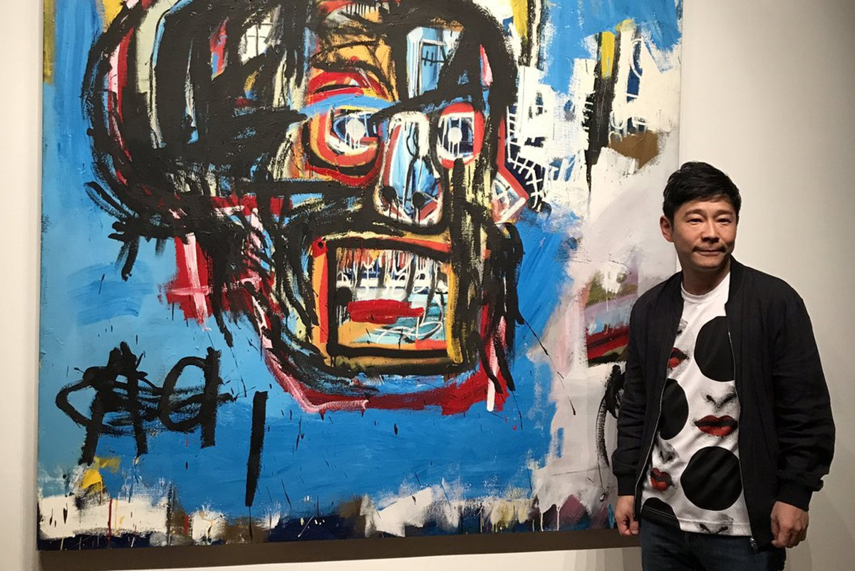 Jean Michel Basquiat art can often be seen at auctions