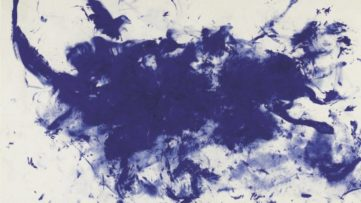 Yves Klein blue paintings are an important part of the French artist oeuvre he presented in the gallery spaces in Paris