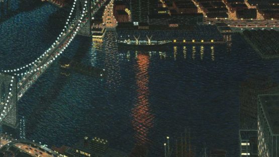 Yvonne Jacquette - East River View with Brooklyn Bridge, 1983