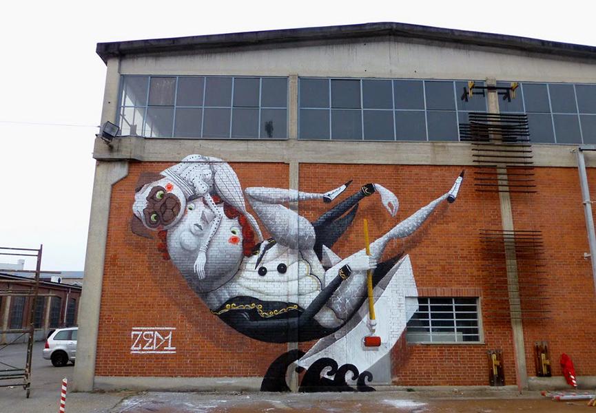 Mural in Turin