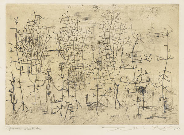 Zao Wou-Ki-Femme Dans La Foret (Woman In The Forest)-1950