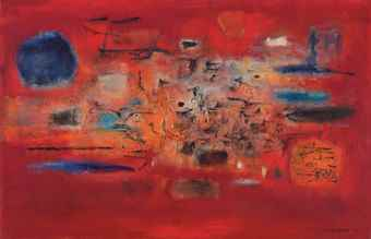 Zao Wou-Ki-Foudre-1955