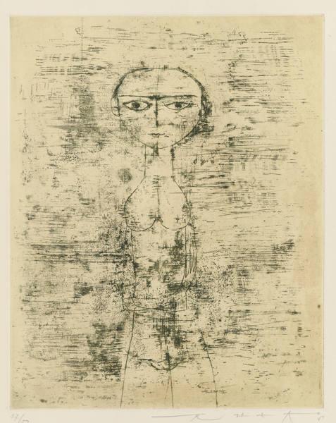 Zao Wou-Ki-Nu Debout (Standing Nude)-1951
