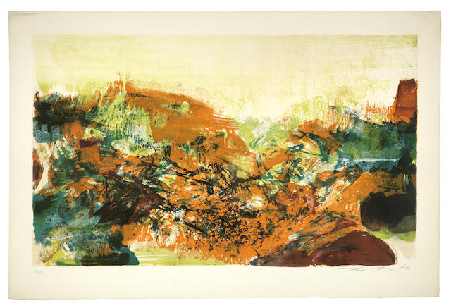 Zao Wou-Ki-Untitled, from A la gloire de l'image et Art poetique-1976