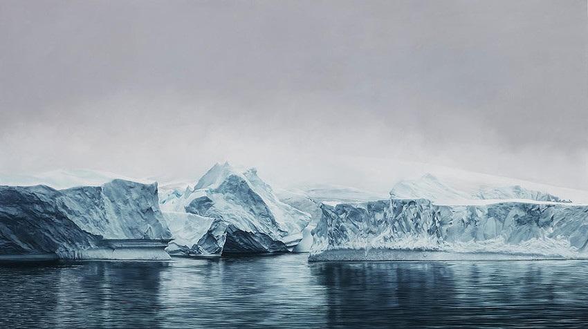 Zaria Forman - Deception Island, Antarctica - 2015 contact life gallery