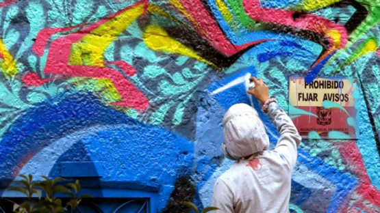 Zas with Stinkfish - Untitled (detail), Bogota, photo credits streetartnewsnet