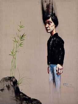 Zeng Fanzhi-Man and Bamboo-2005